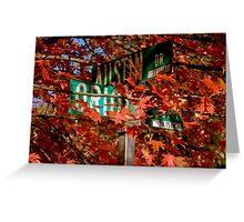 Fall Walk in my Neighborhood - Street Sign     ^ Greeting Card