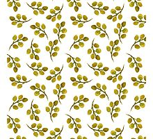 Green leaves pattern. Photographic Print