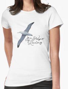 Weight Of Living Albatross Womens Fitted T-Shirt