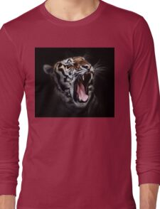 Tiger Animals Black and White Long Sleeve T-Shirt