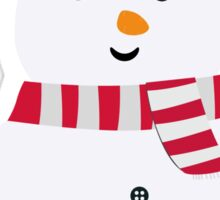 Chirstmas Snowman with winterscarf Sticker