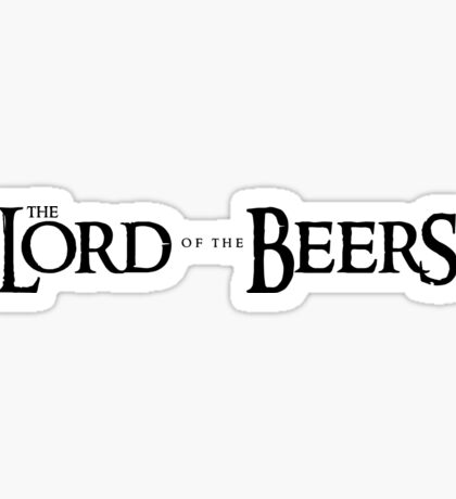 Lord of the Beers Sticker