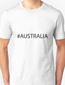 #Australia Black T-Shirt