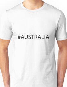#Australia Black Unisex T-Shirt