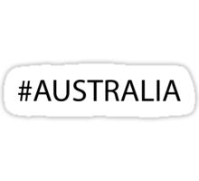 #Australia Black Sticker