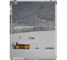 Barn on a snow covered German hillside iPad Case/Skin