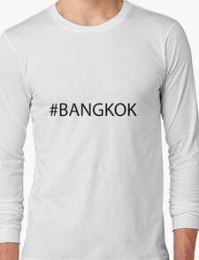 #Bangkok Black Long Sleeve T-Shirt