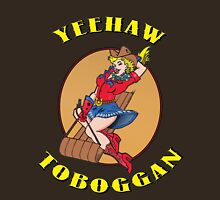 Yeehaw Toboggan cowgirl Womens Fitted T-Shirt