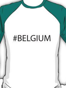 #Belgium Black T-Shirt