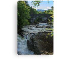 River Moriston, Invermoriston, Highland, Scotland Canvas Print