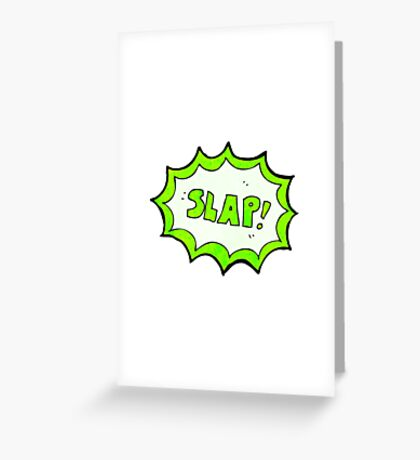 comic book noise symbol Greeting Card