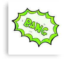 comic book bang symbol Canvas Print