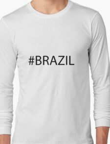 #Brazil Black Long Sleeve T-Shirt