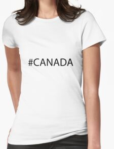 #Canada Black Womens Fitted T-Shirt