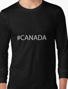 #Canada White Long Sleeve T-Shirt