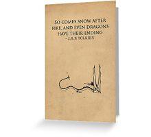 The Hobbit // Tolkien Minimalist Design Greeting Card