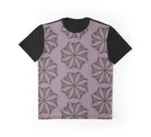 Floral pink repeat circle lily  Graphic T-Shirt