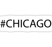 #Chicago Black Sticker