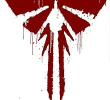 The Last Of Us: Red Painted FireFlies Logo by TheNerdzShirts