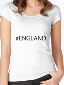 #England Black Women's Fitted Scoop T-Shirt
