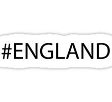 #England Black Sticker