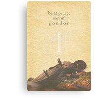 LOTR- Aragorn and Boromir Canvas Print