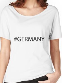 #Germany Black Women's Relaxed Fit T-Shirt