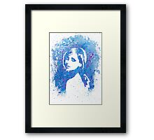 Buffy Sarah Michelle Gellar Watercolor Portrait Framed Print