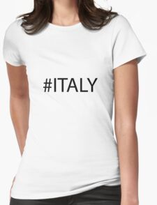 #Italy Black Womens Fitted T-Shirt
