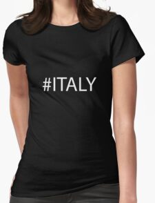 #Italy White Womens Fitted T-Shirt