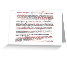 Destiel Quotes - White Greeting Card
