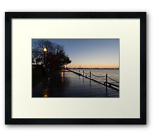 Wet Boardwalk - a Clear Morning After the Rain Framed Print