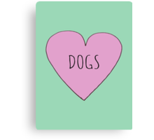 DOG LOVE Canvas Print