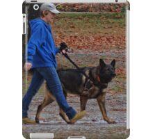 Who's walking who? iPad Case/Skin