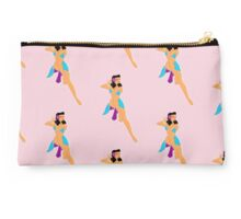 Beach babe 50s pin up Moonlight swim Studio Pouch