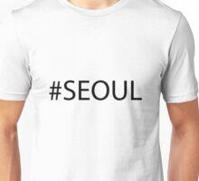 #Seoul Black Unisex T-Shirt