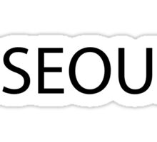 #Seoul Black Sticker