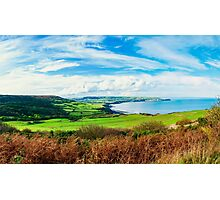 Scenic View over of Robin Hoods Bay in Ravenscar, North Yorkshire, England Photographic Print