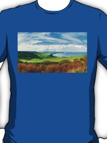 Scenic View over of Robin Hoods Bay in Ravenscar, North Yorkshire, England T-Shirt