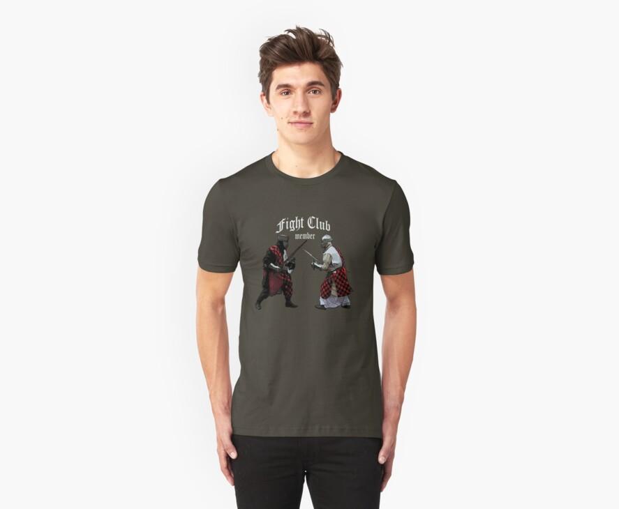 Medieval Knight Fight Club Member t-shirt by patjila