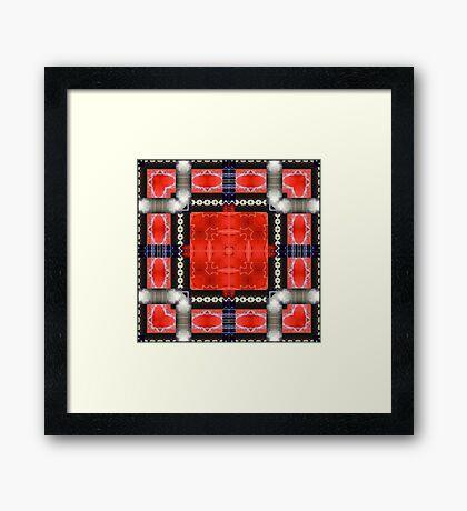 Red SUV Framed Print