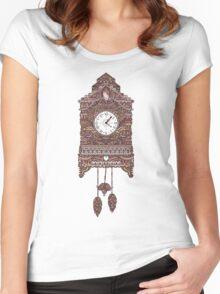 Autumn Cuckoo Clock Women's Fitted Scoop T-Shirt