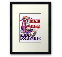 Miss Fortune - Game Over Framed Print