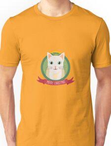 Christmas Cat as Angel Unisex T-Shirt