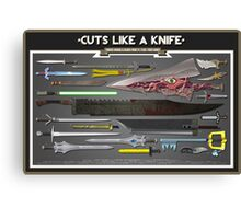 Cuts Like a Knife Canvas Print