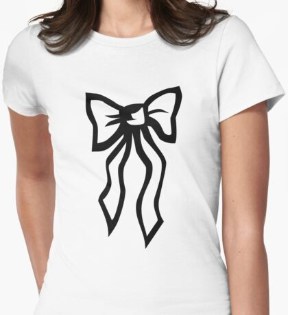 Bow Womens Fitted T-Shirt