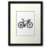 Racing bicycle Framed Print