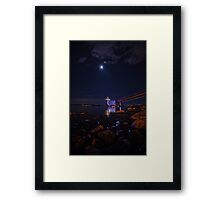 Dive into the Light Framed Print