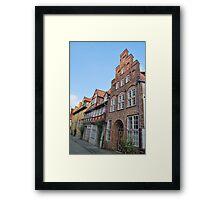 Lübeck - façade [1] Framed Print