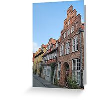 Lübeck - façade [1] Greeting Card